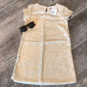 🕶 HOST PICK 🕶 H&M Gold Lace Floral Shift Dress